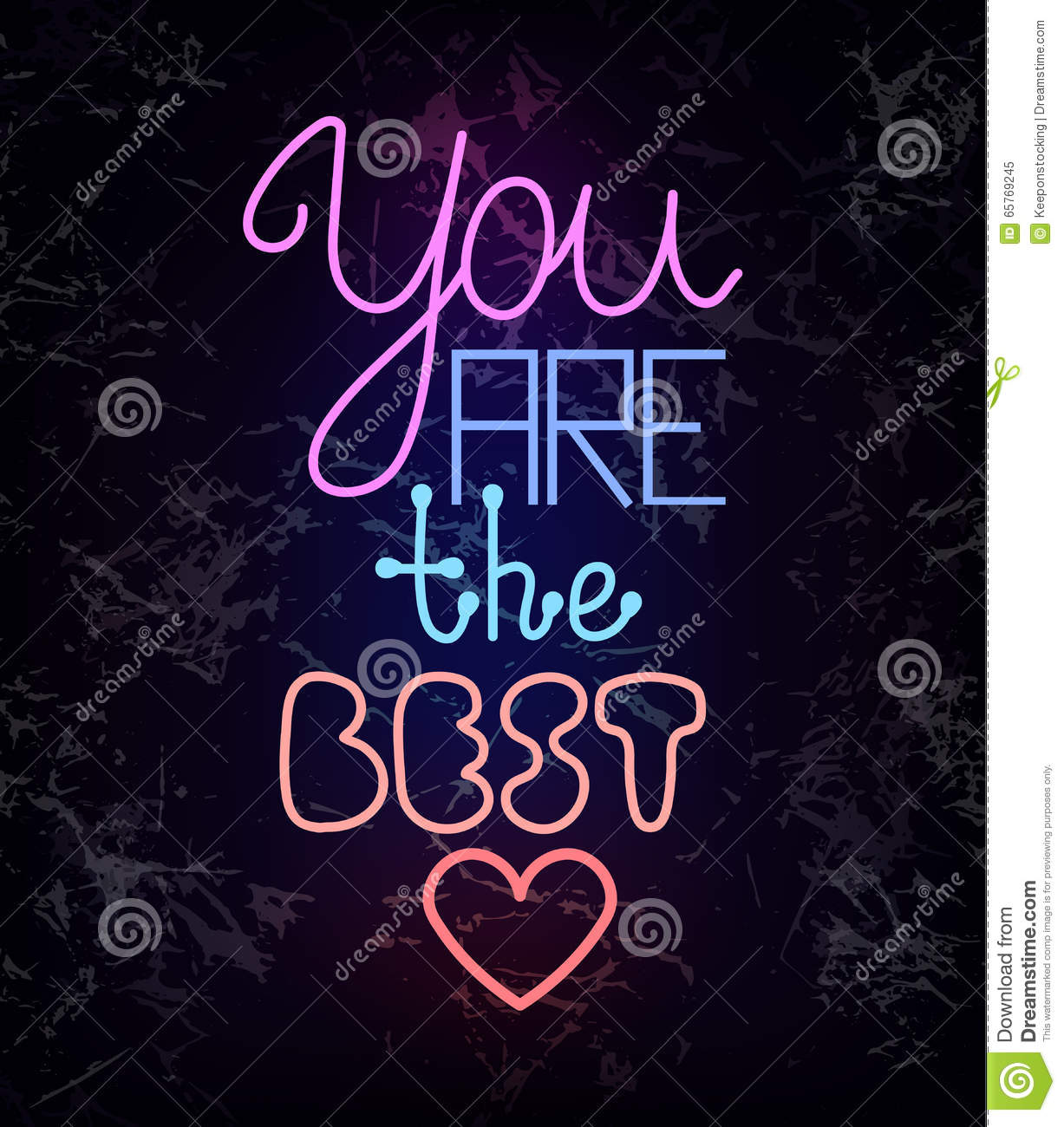 You Are The Best, Glowing Neon Light Wire Text Stock Vector ...