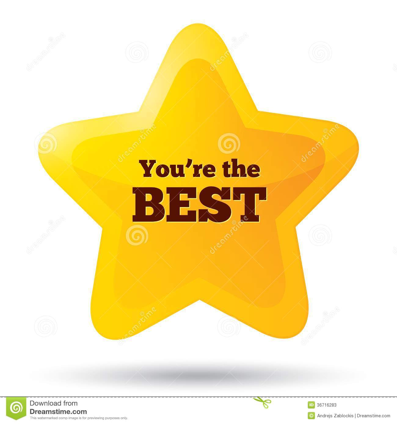 You Are The Best Icon. Customer Service Award. Stock Photos - Image ...