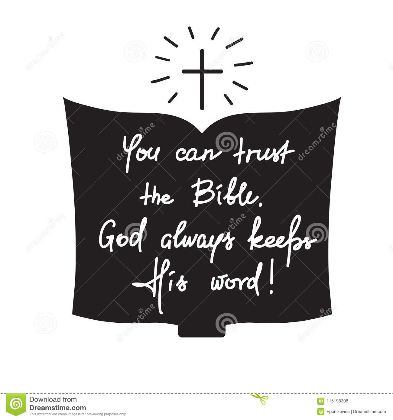 you can trust the bible god always keeps his word motivational