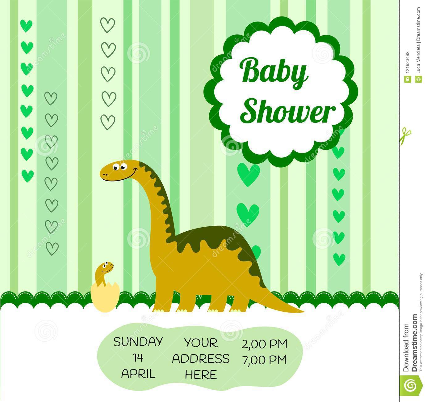 image regarding Free Printable Dinosaur Baby Shower Invitations called Lovable Card Template Of A Kid Shower Invitation With A