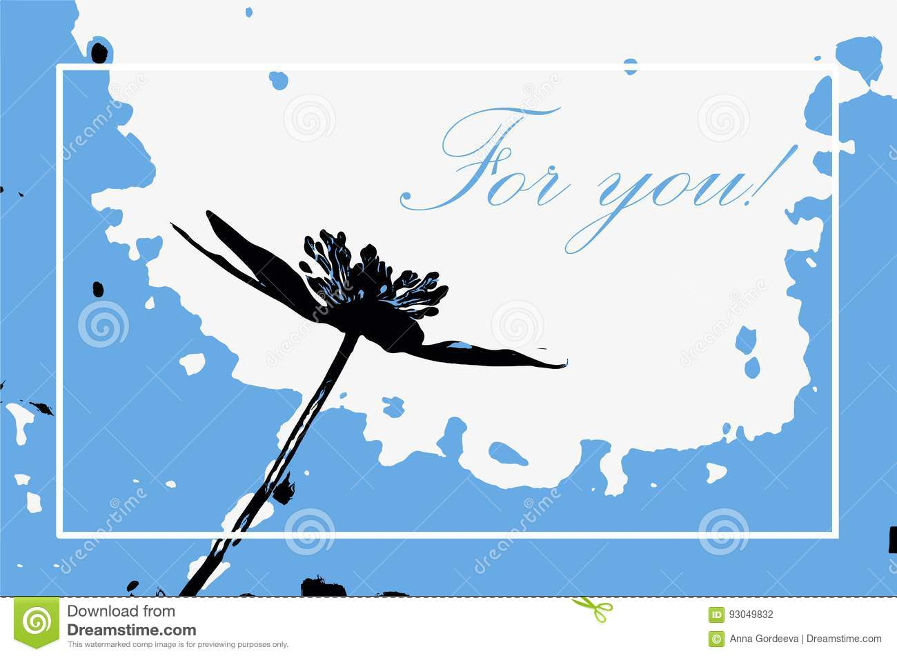 `For you` greeting card