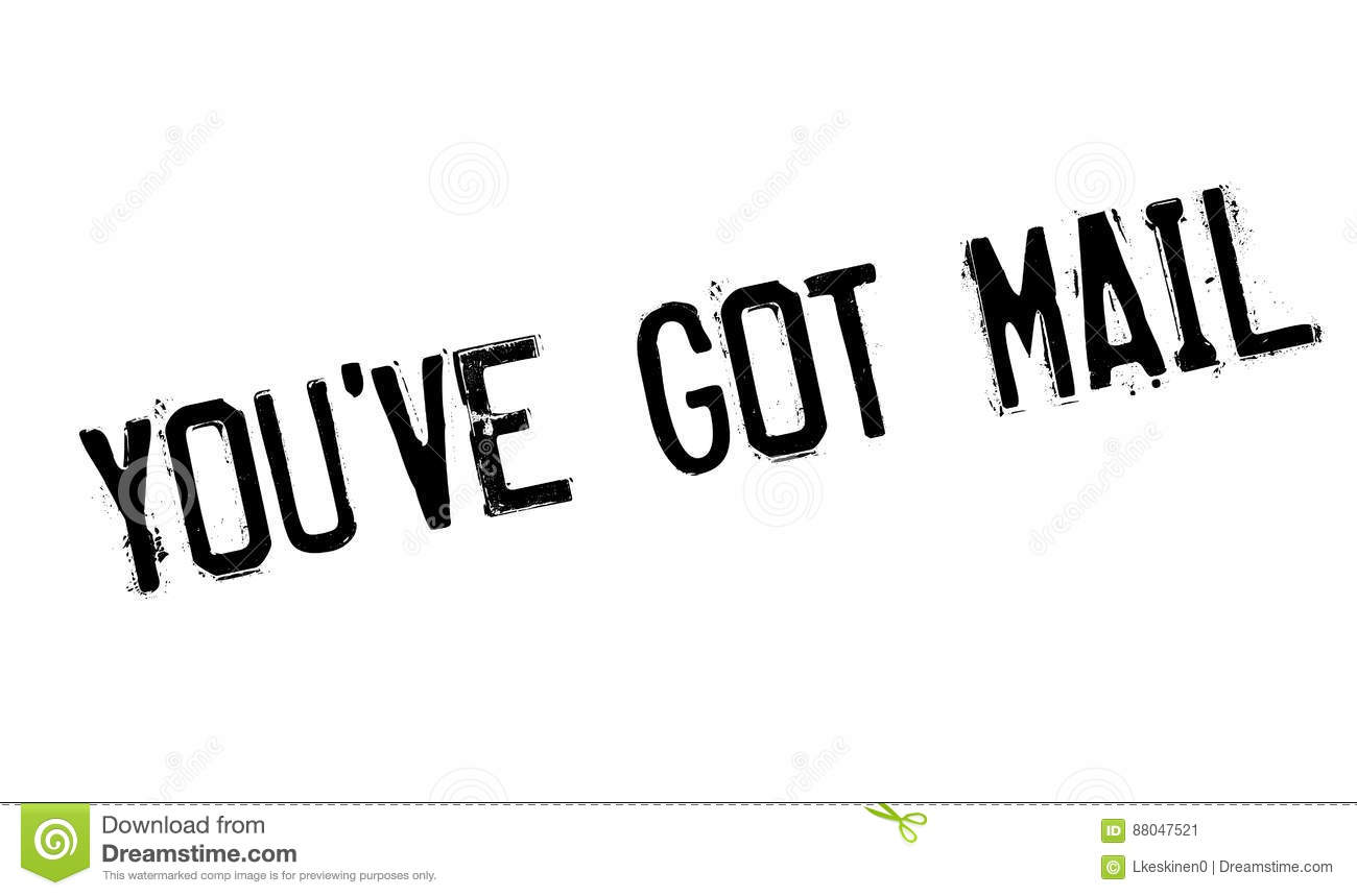 you have got mail rubber stamp stock image