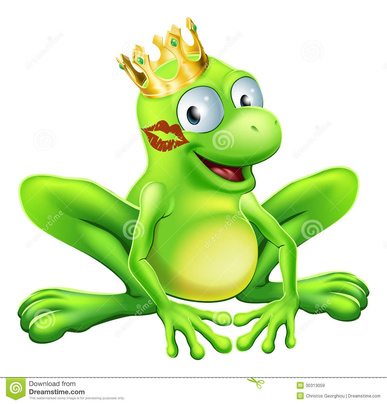 two frogs prince and princess in love kissing stock vector image