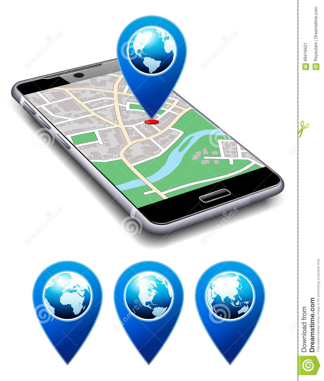 You Are Here - Phone With Map Pointer Icon Cell Smart Mobile Stock Map Location Of Cell Phone on