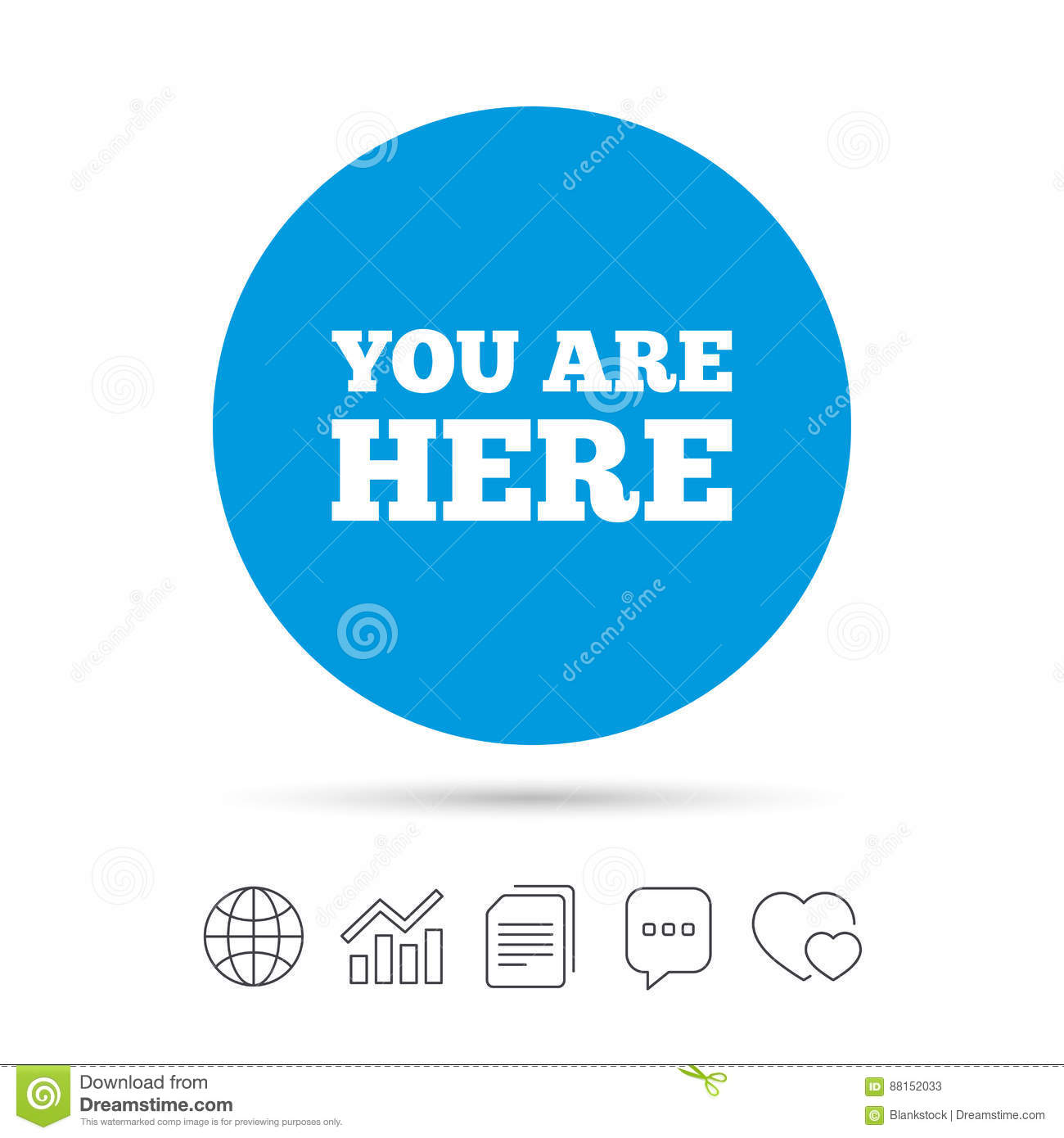 You are here sign icon info text symbol stock vector info text symbol buycottarizona