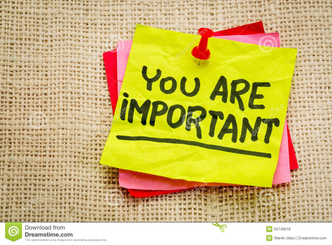 You are important reminder note - self assurance or positive ...