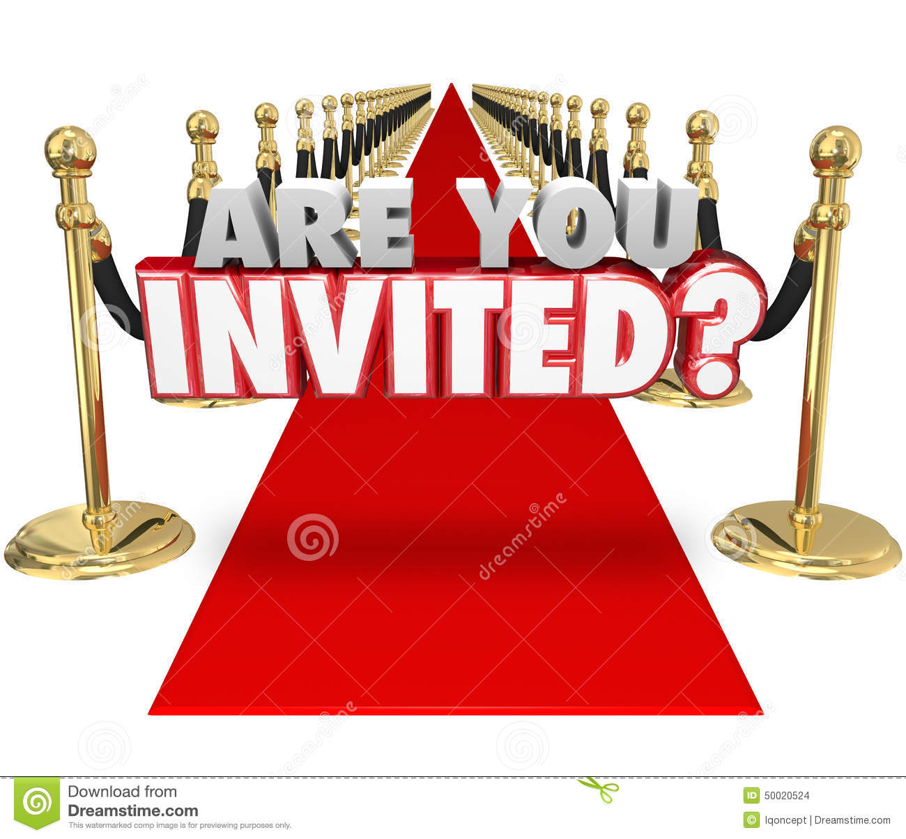 are you invited 3d words