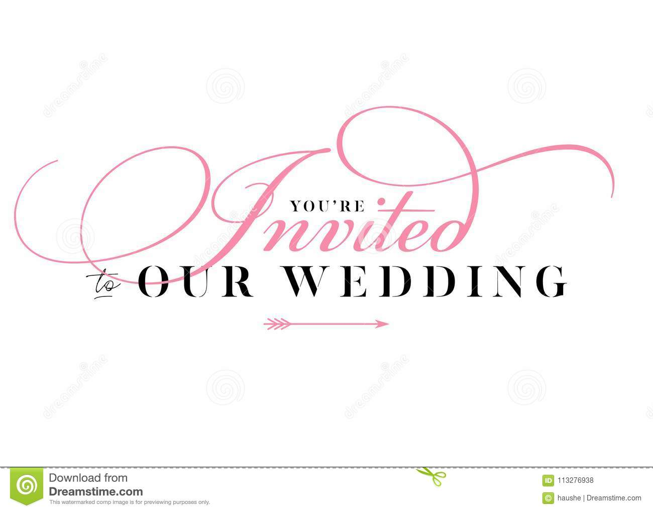 You Are Invited Wedding Title For Card, Invitation. Stock Vector ...