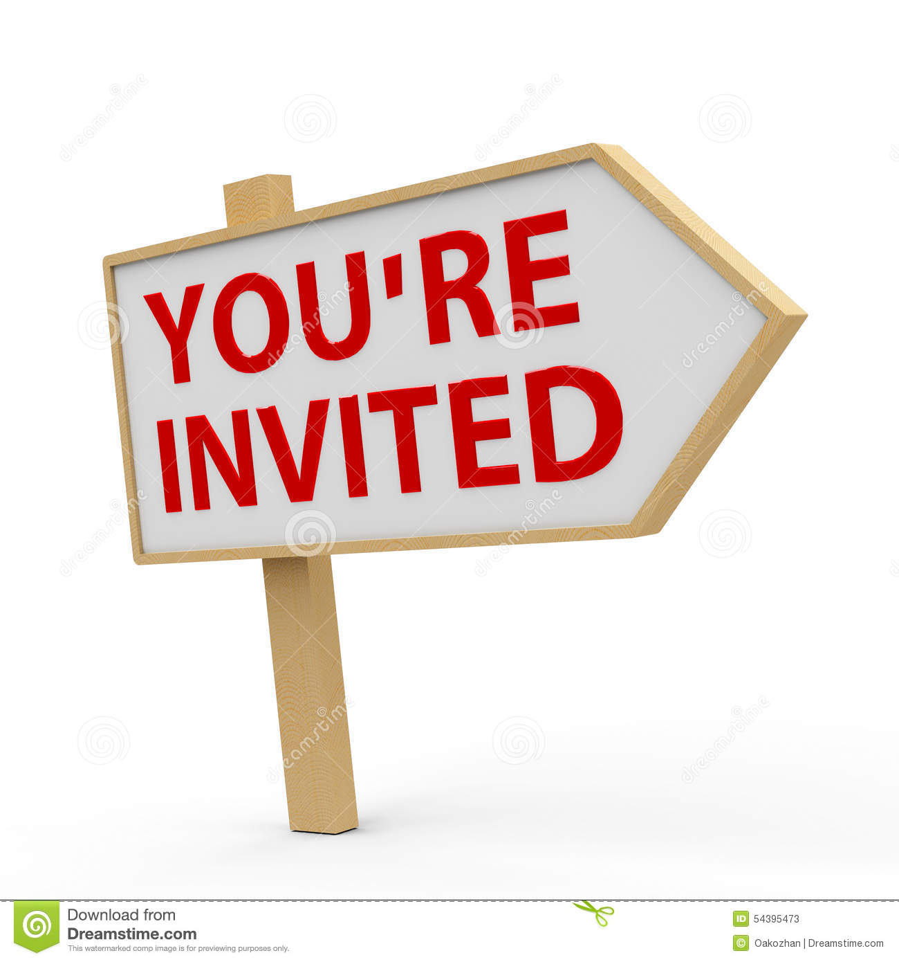 You Are Invited White Banner Stock Illustration