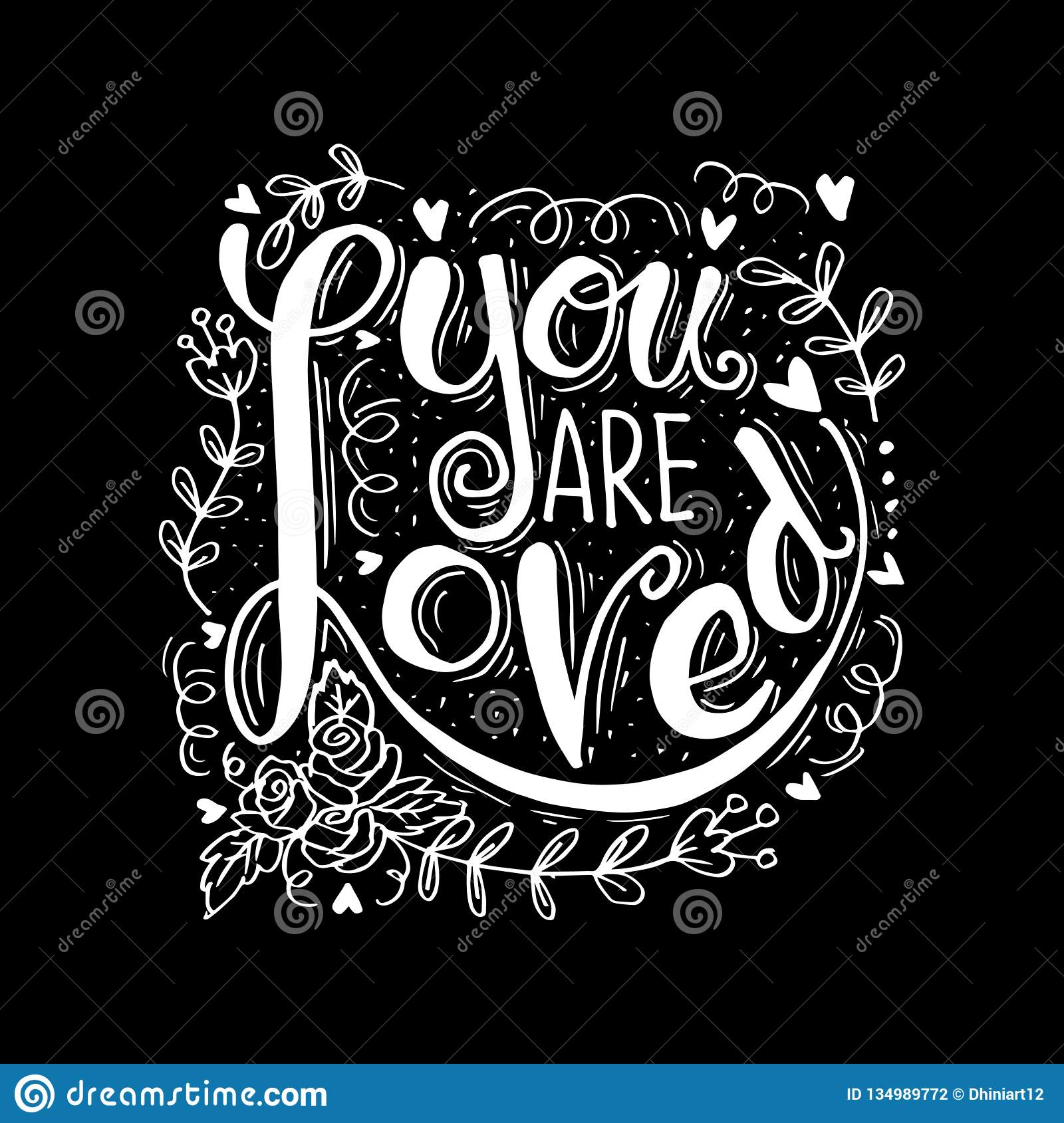 You are loved hand lettering.