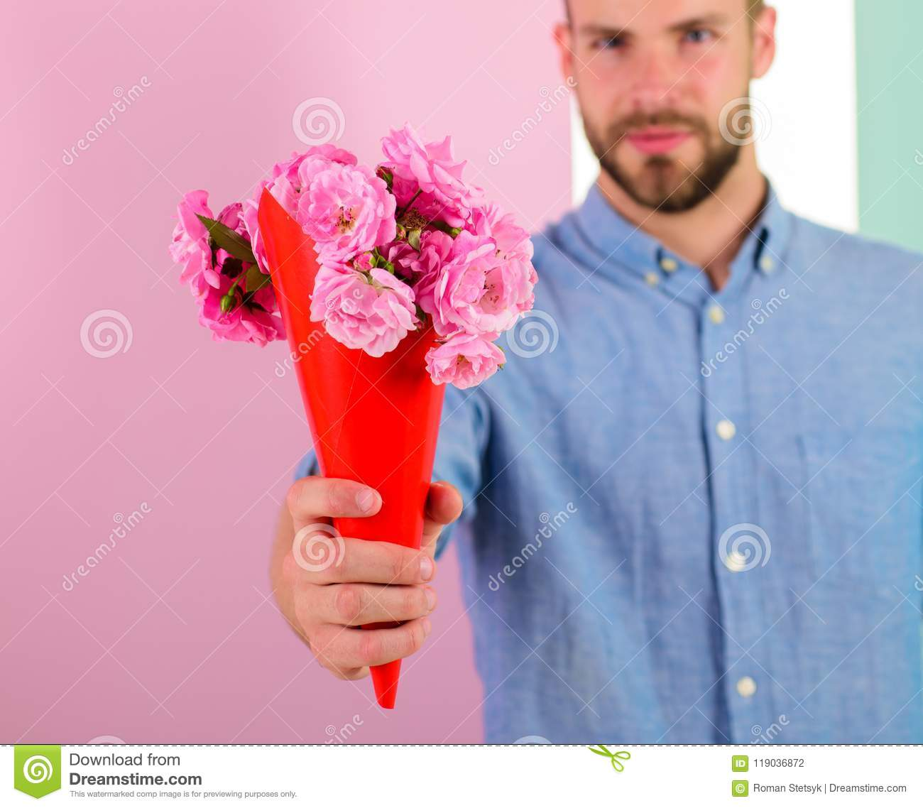 Can you give flowers to a man