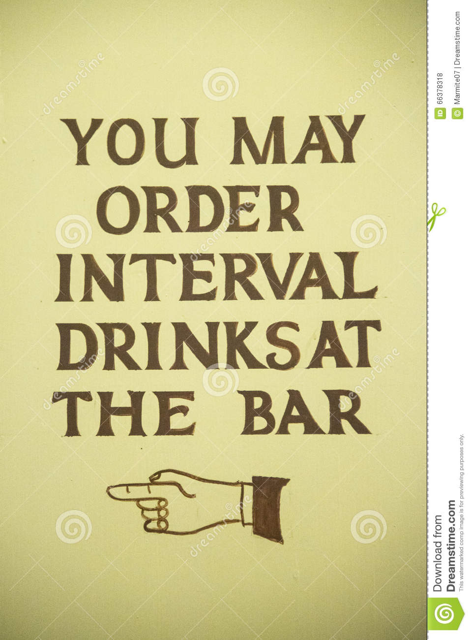 You May Order Interval Drinks At The Bar Stock Photo ...