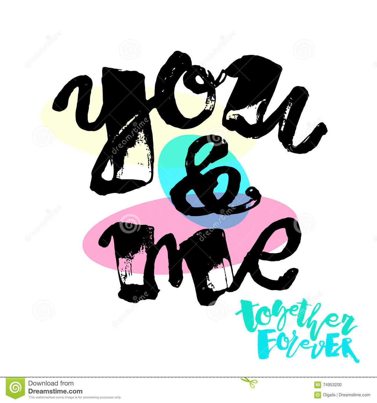 You And Me Together Forever Stock Vector Illustration Of Poster