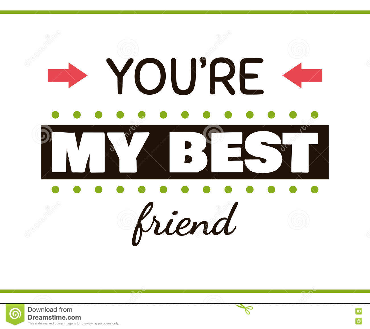 You Are My Best Friend Label Stock Vector Illustration Of Logotype
