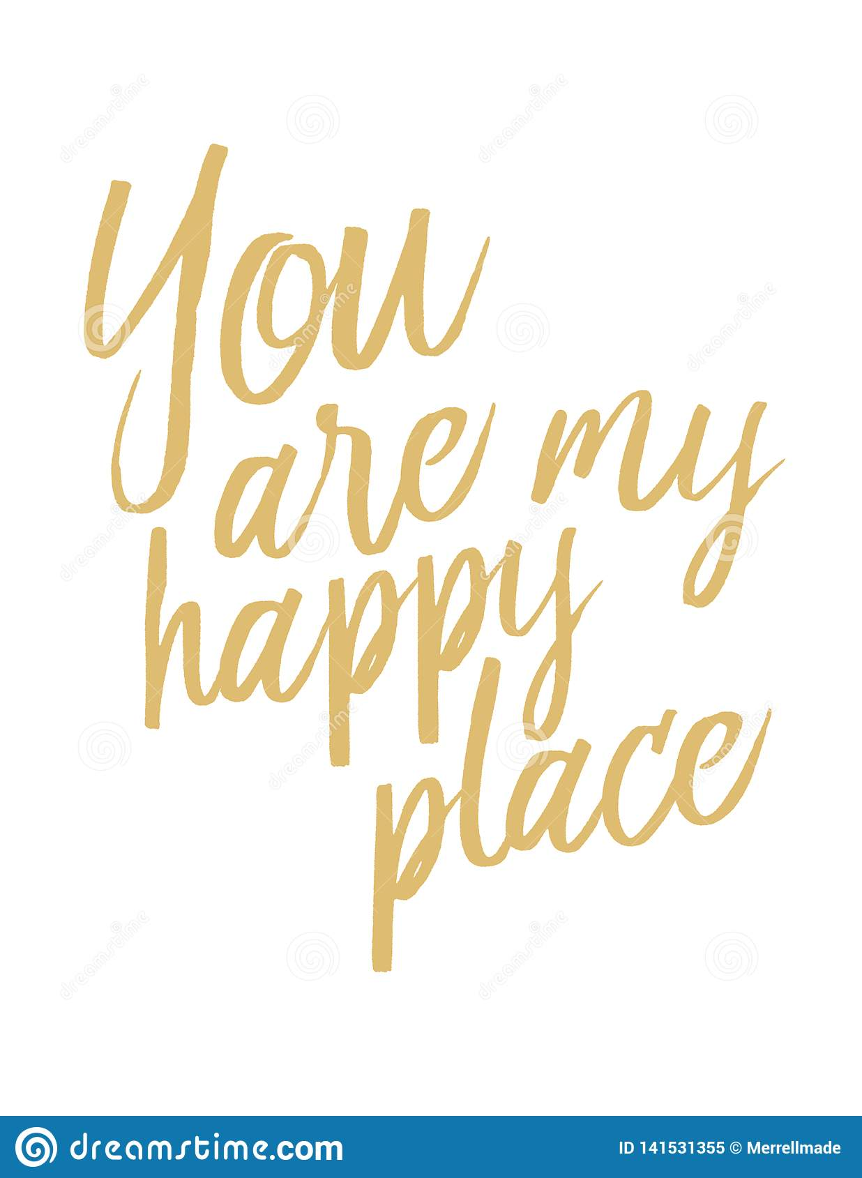 You Are My Happy Place stock illustration. Illustration of ...
