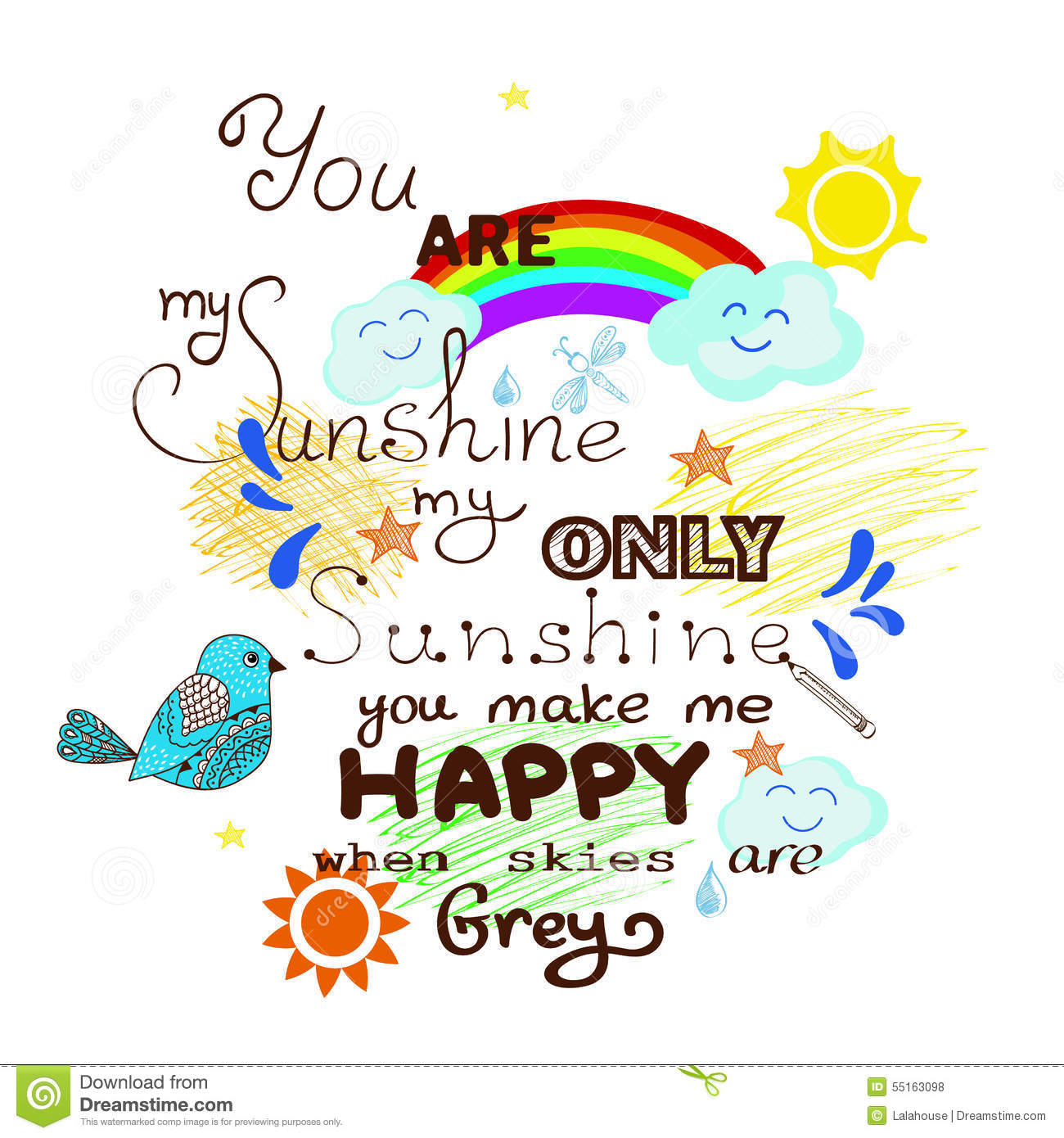 You Are My Sunshine Stock Vector - Image: 55163098