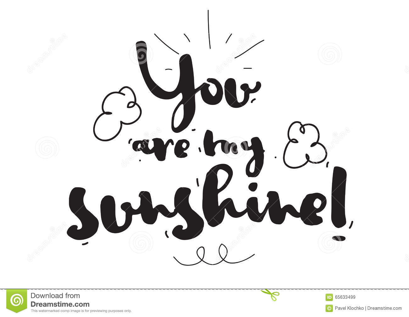 You are my sunshine romantic quote greeting card