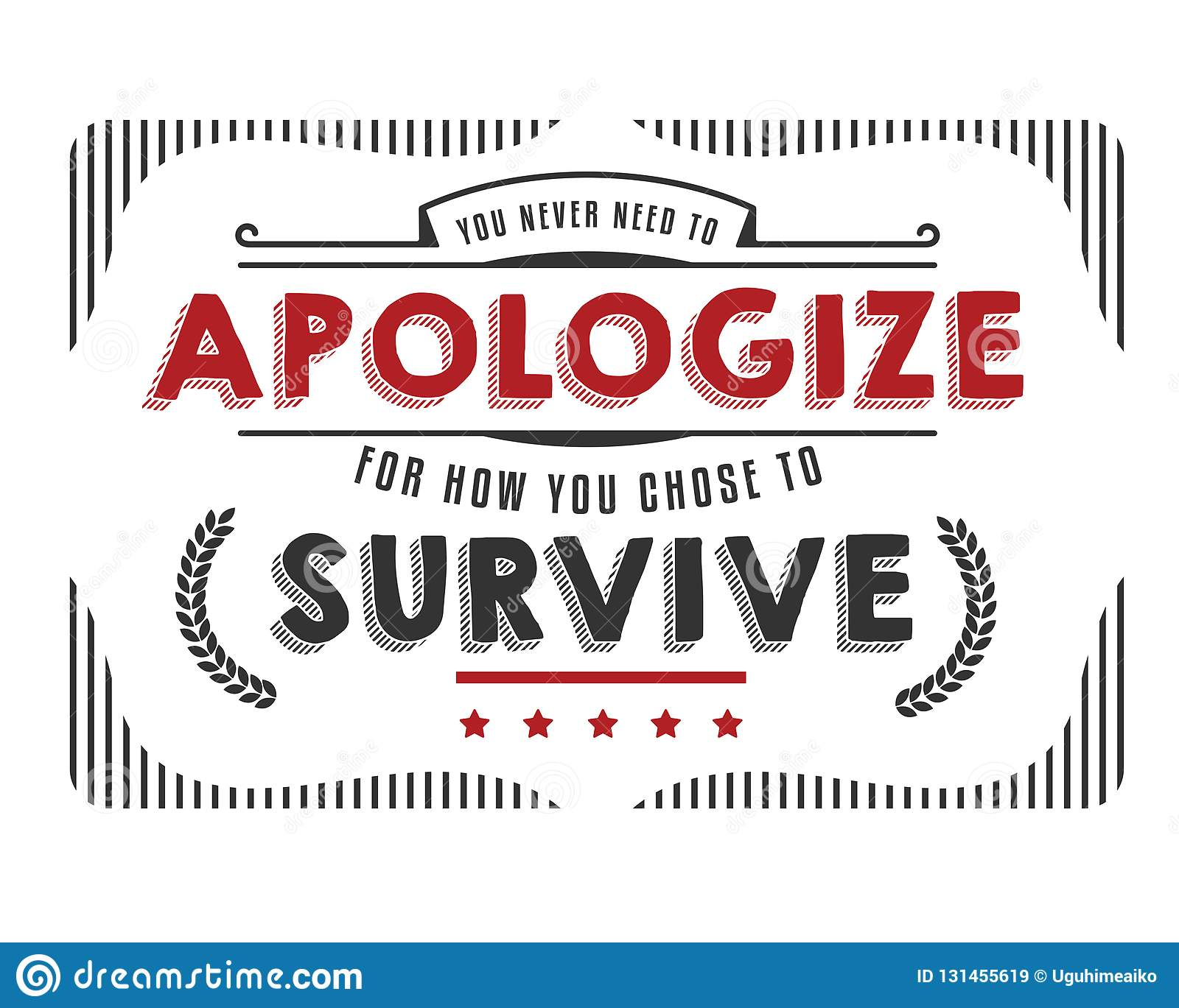 need to apologize