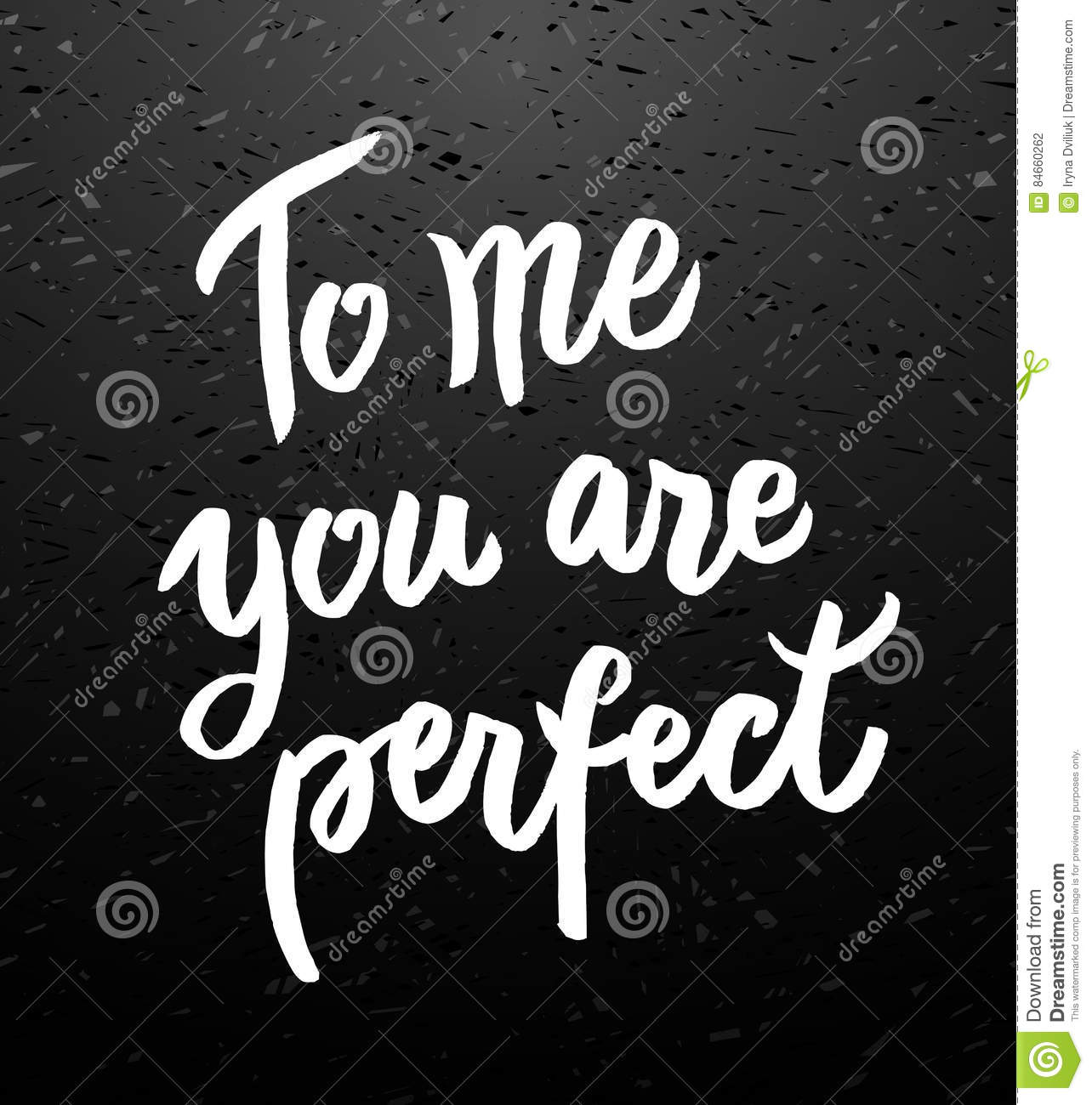 You Are Perfect Calligraphic Poster Stock Vector ...
