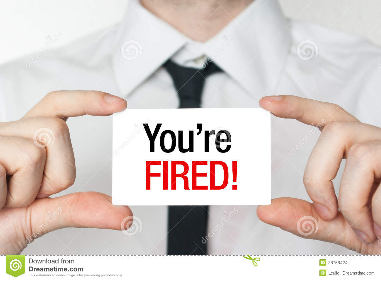 You re fired card