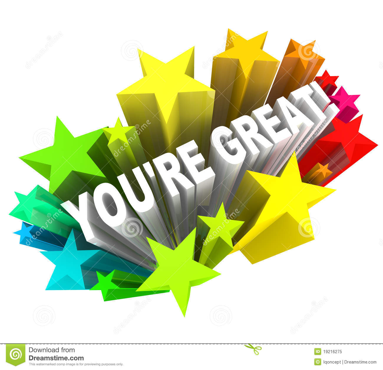 You're Great - Praise Words For Success Royalty Free Stock ...