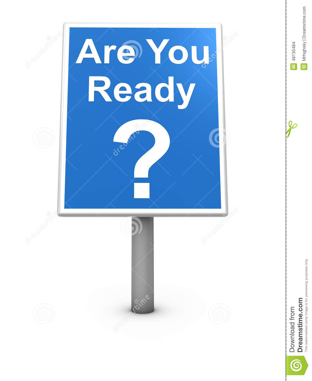 Kinder Garden: Are You Ready Sign Board Stock Illustration. Image Of