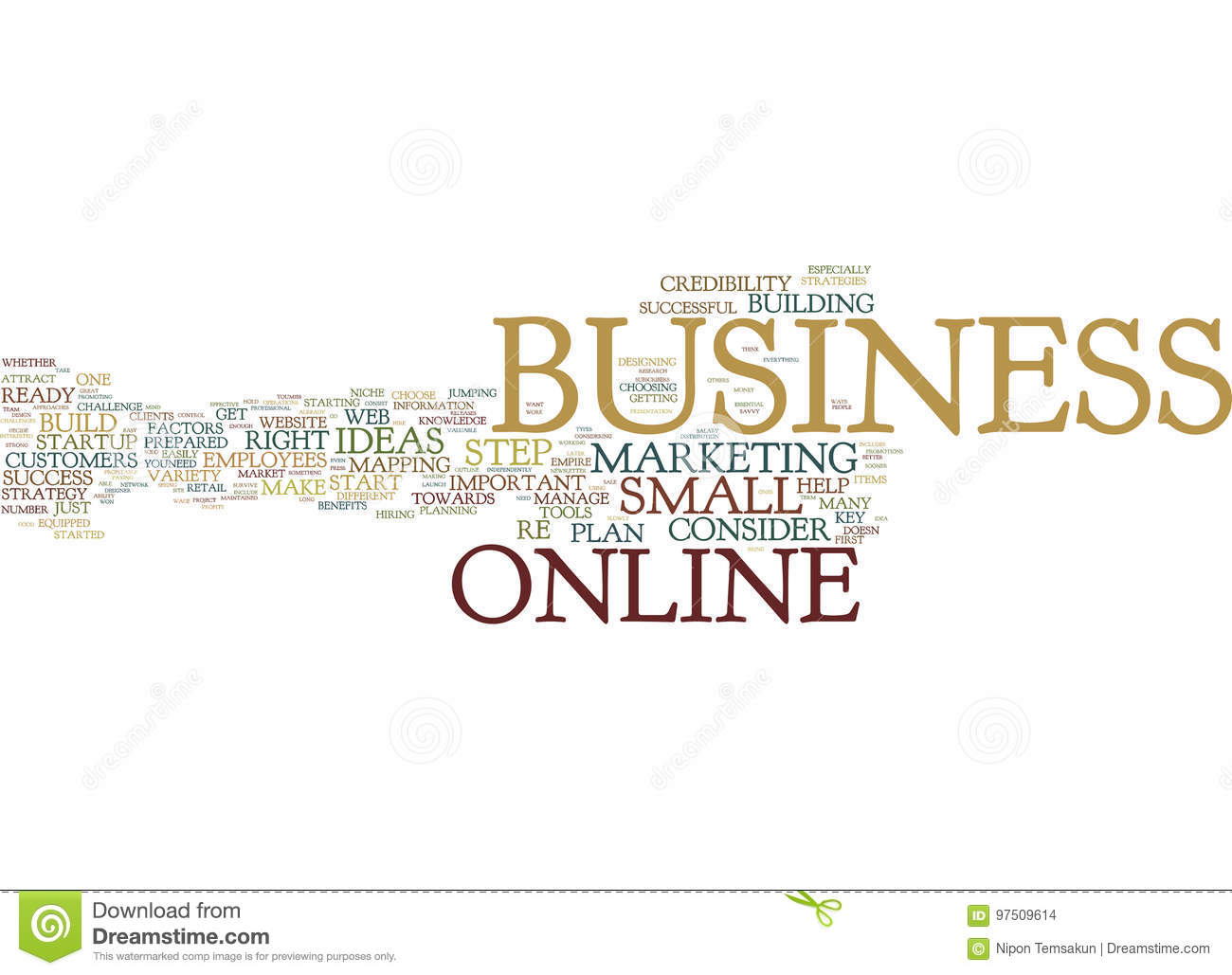 Are You Ready For A Successful Online Business Word Cloud Concept
