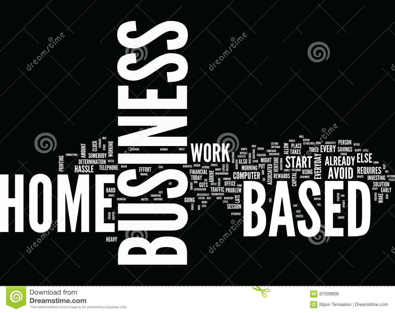 Are You Ready To Invest In A Home Based Business Word Cloud Concept