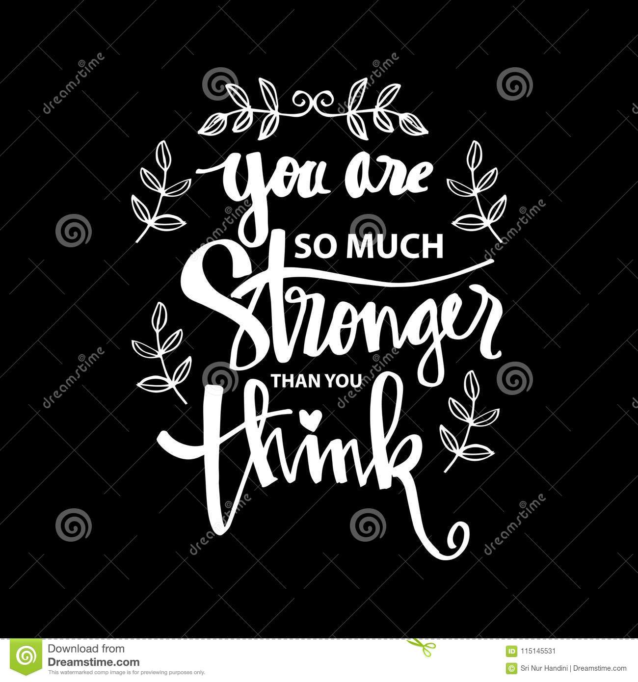You Are Stronger Than You Think Stock Illustration Illustration