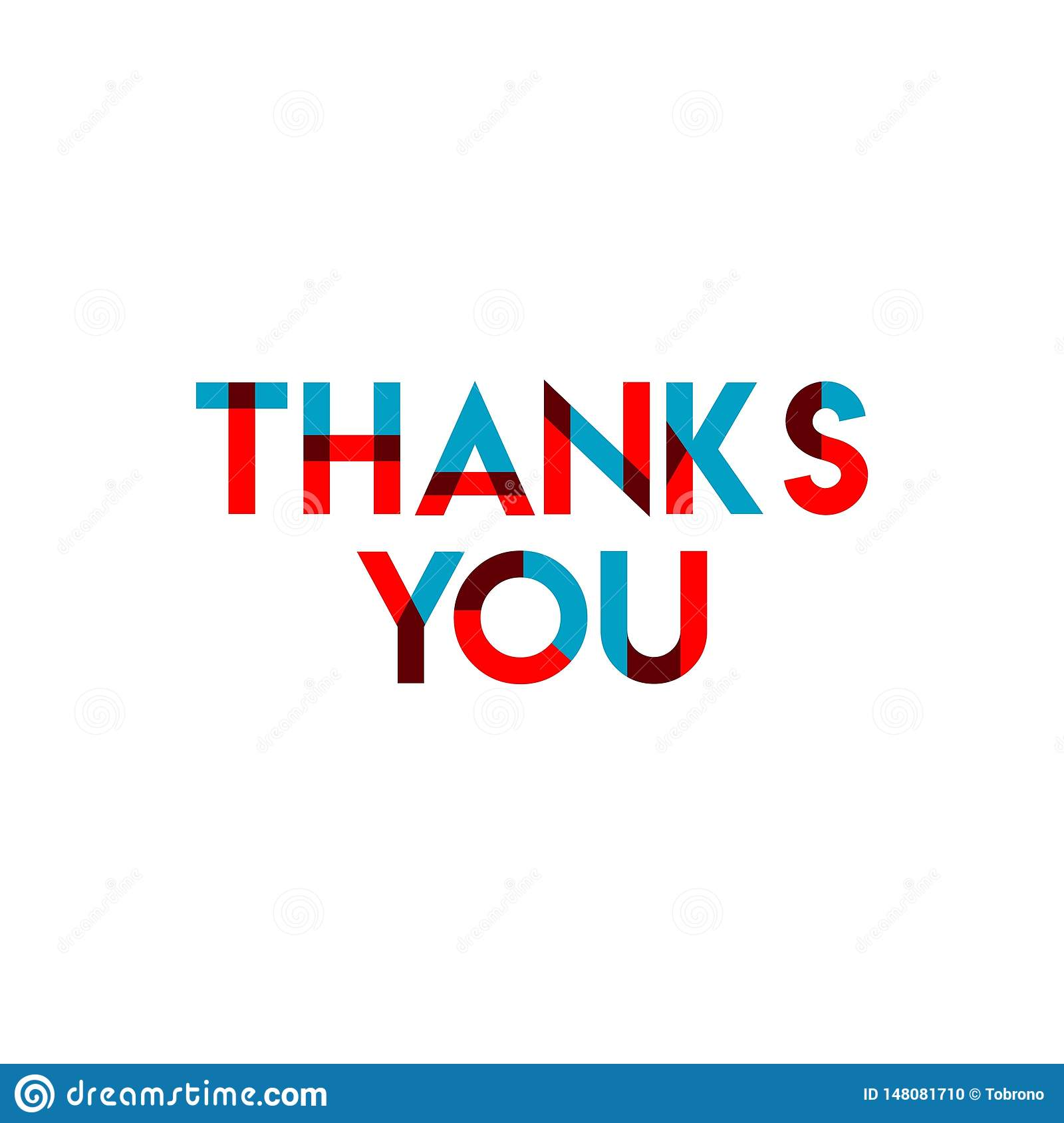 Thanks You Vector Template Design Illustration