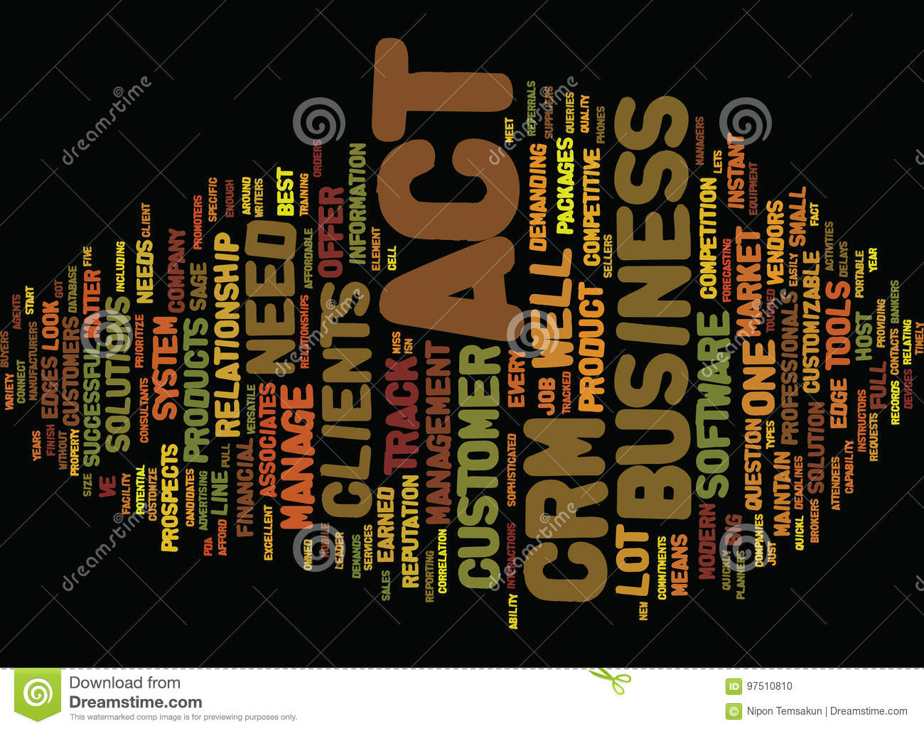 Are You Up For The Act In Your Crm System Word Cloud Concept
