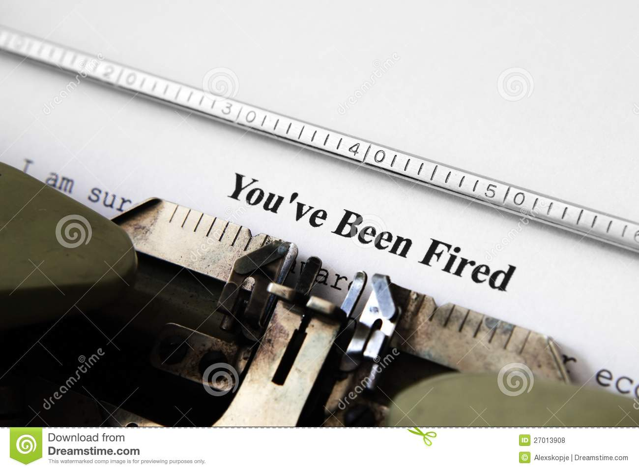 you u0026 39 ve been fired royalty free stock photos