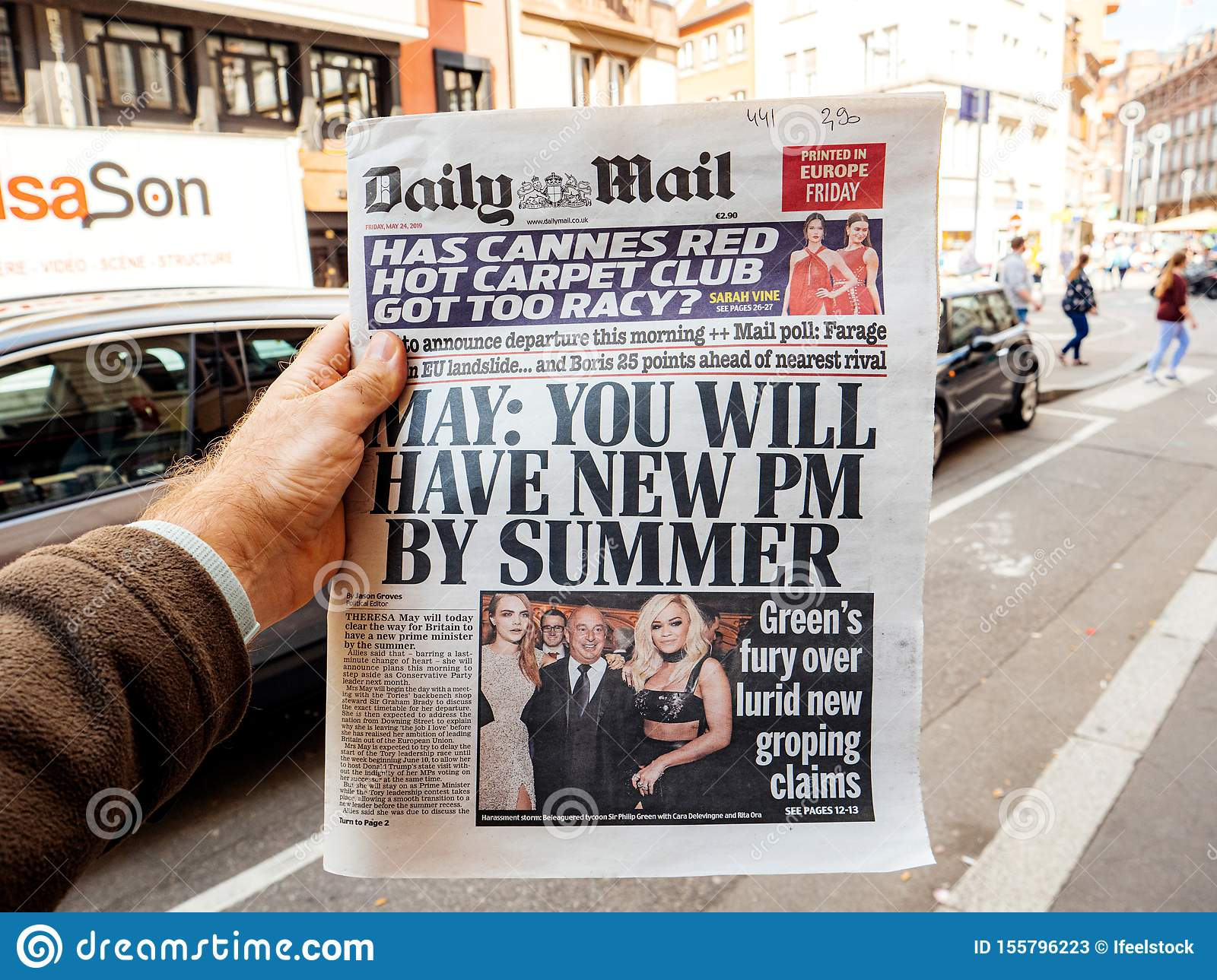 You will have a new PM by summer title newspaper daily mail