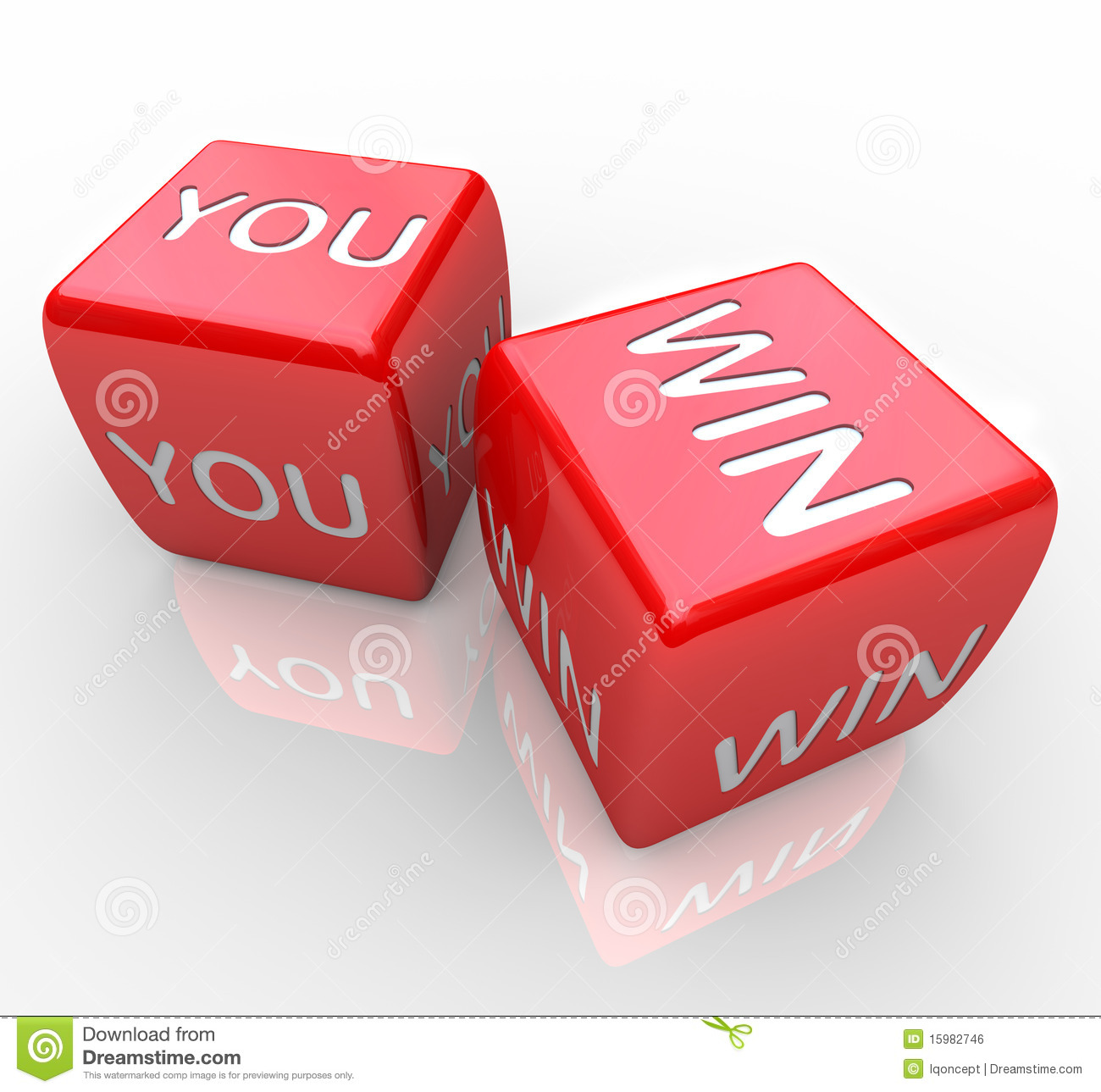 You Win Words On Red Dice Royalty Free Stock Image Image 15982746