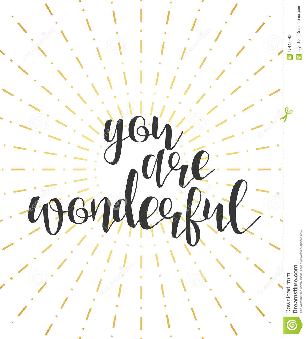 you are wonderful calligraphy phrase quote calligraphy