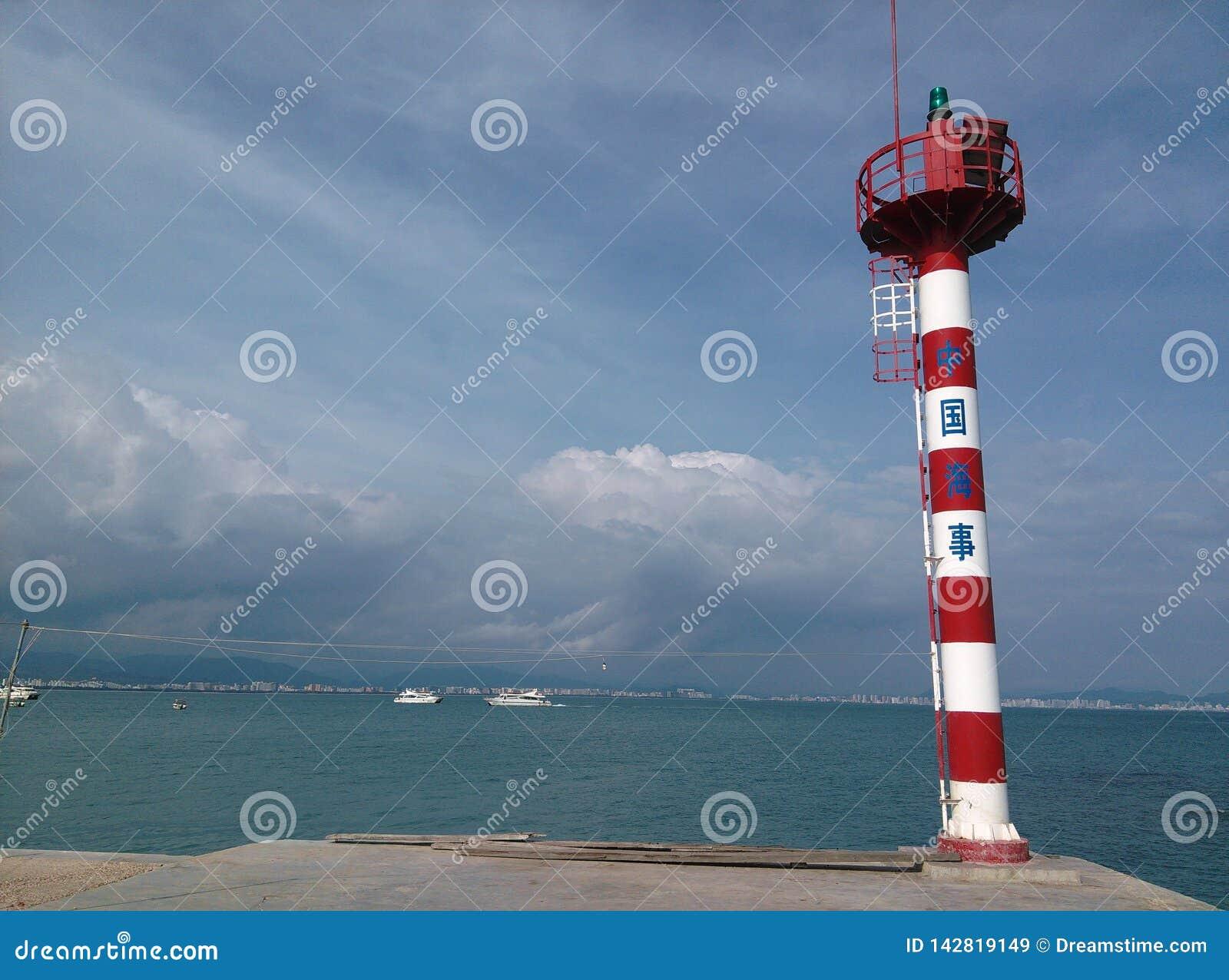 Lighthouse in Sanya, Hainan in China.