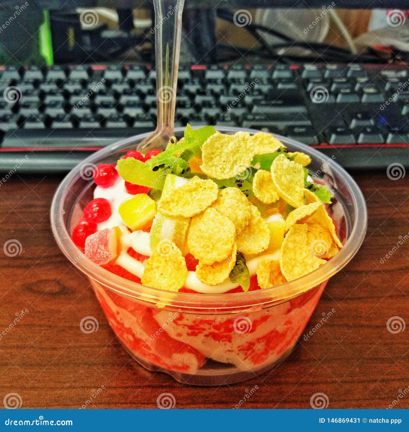 Yougurt de Straberry del hielo