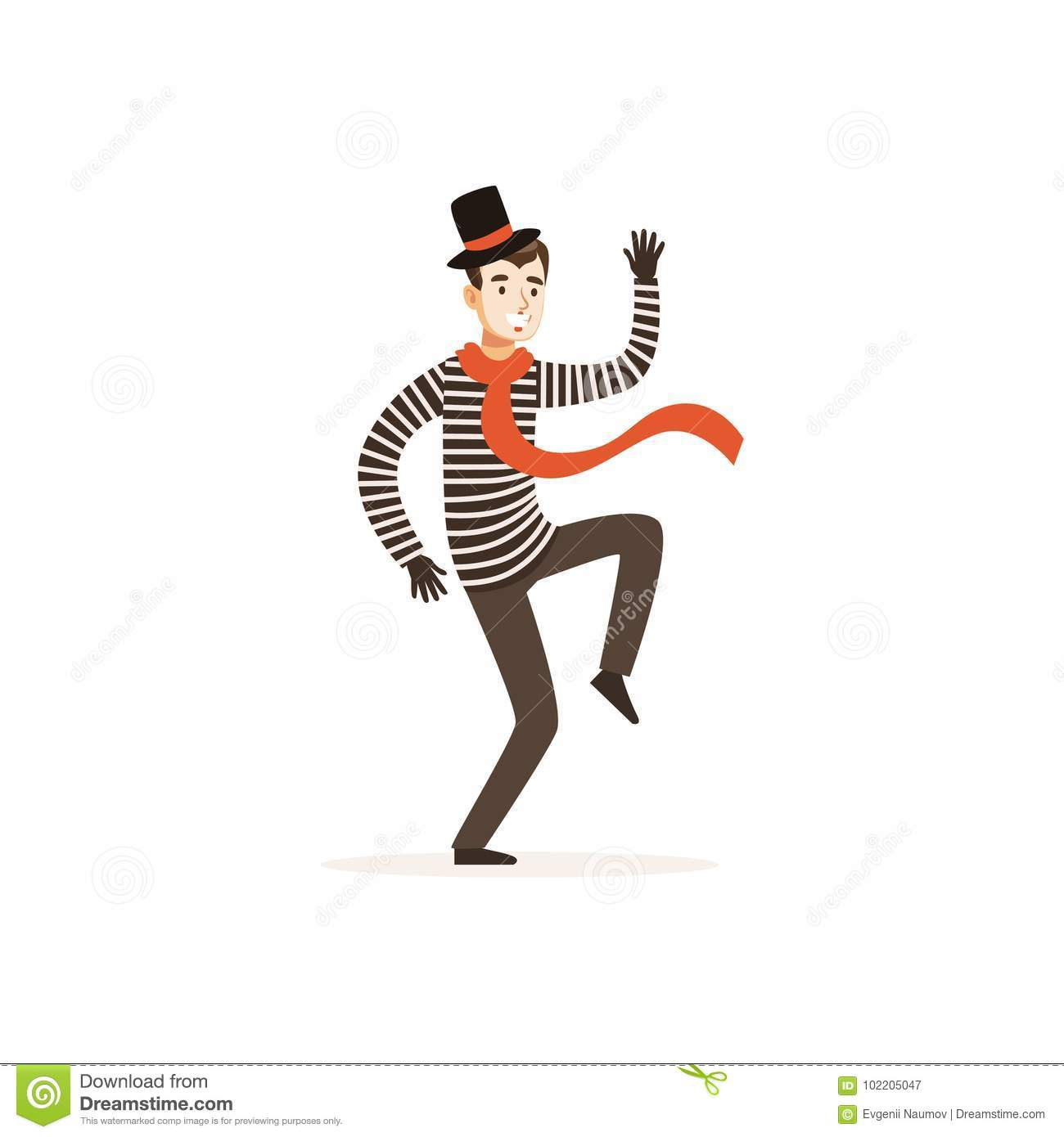 Young Actor Of Mime Theater Stock Vector - Illustration of