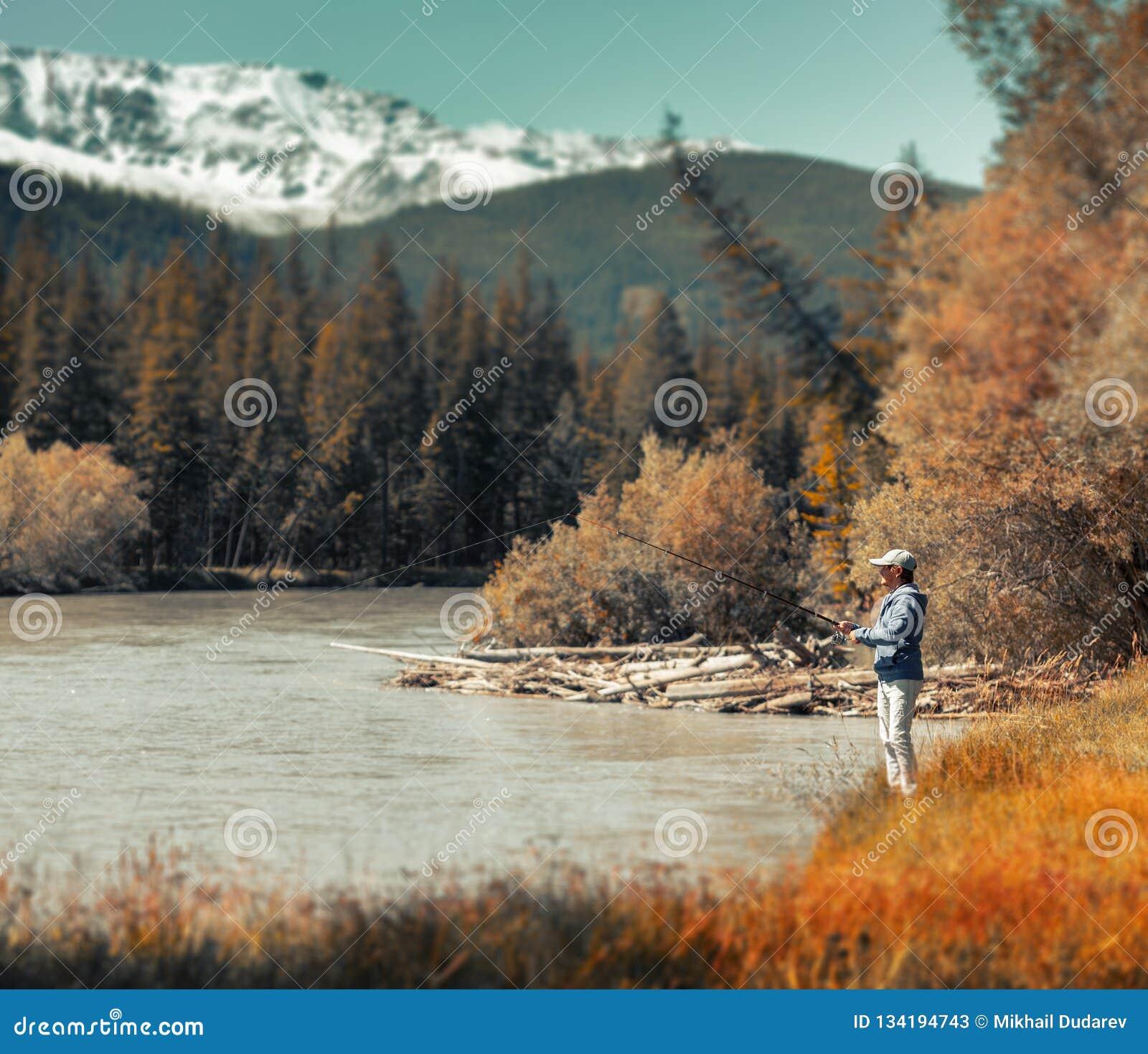 Young adult angler