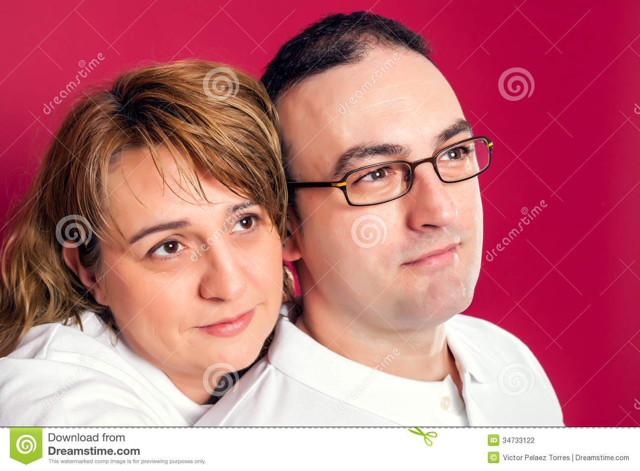 Young Adult Couple Smiling