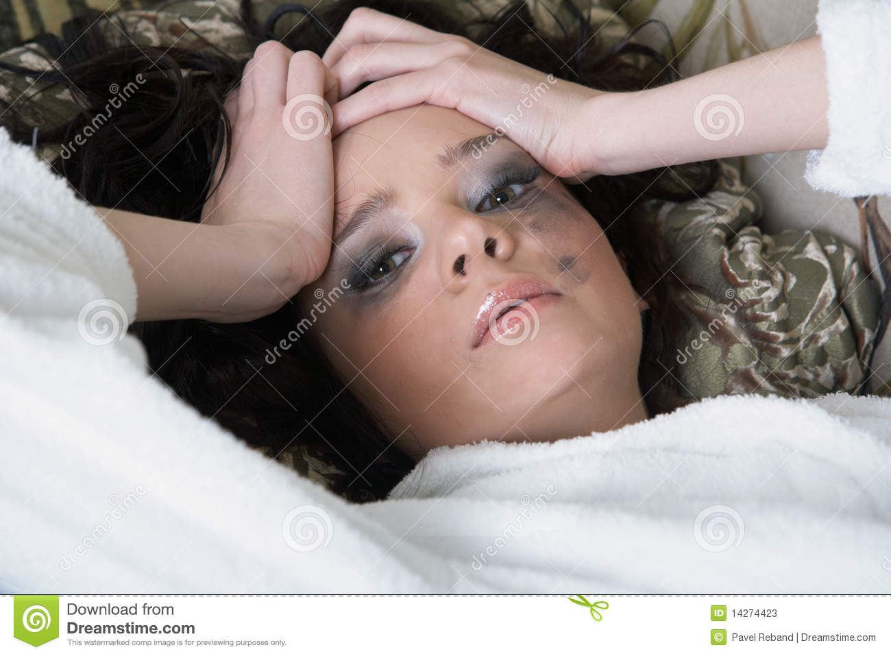 Young adult woman depressed