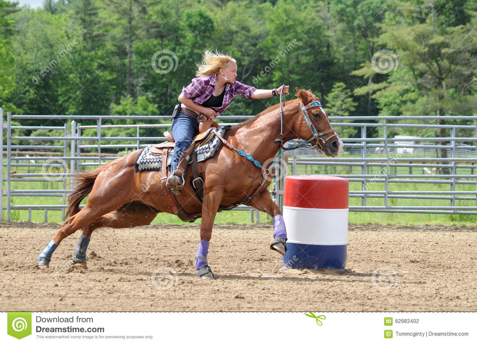 Rodeo Ladies Barrel Racing Stock Photo (Edit Now) 12851260