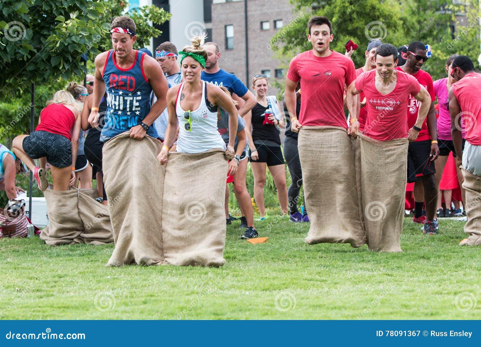 Potato sack race field day