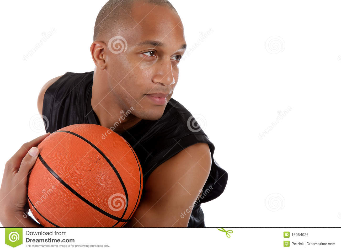 Young African American Basketball Player Royalty Free ...