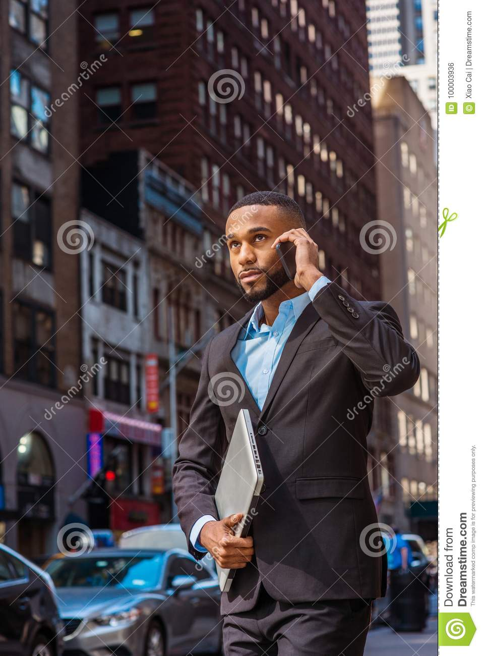 65bcb02dd6 Young African American Businessman Traveling, Working In New York ...