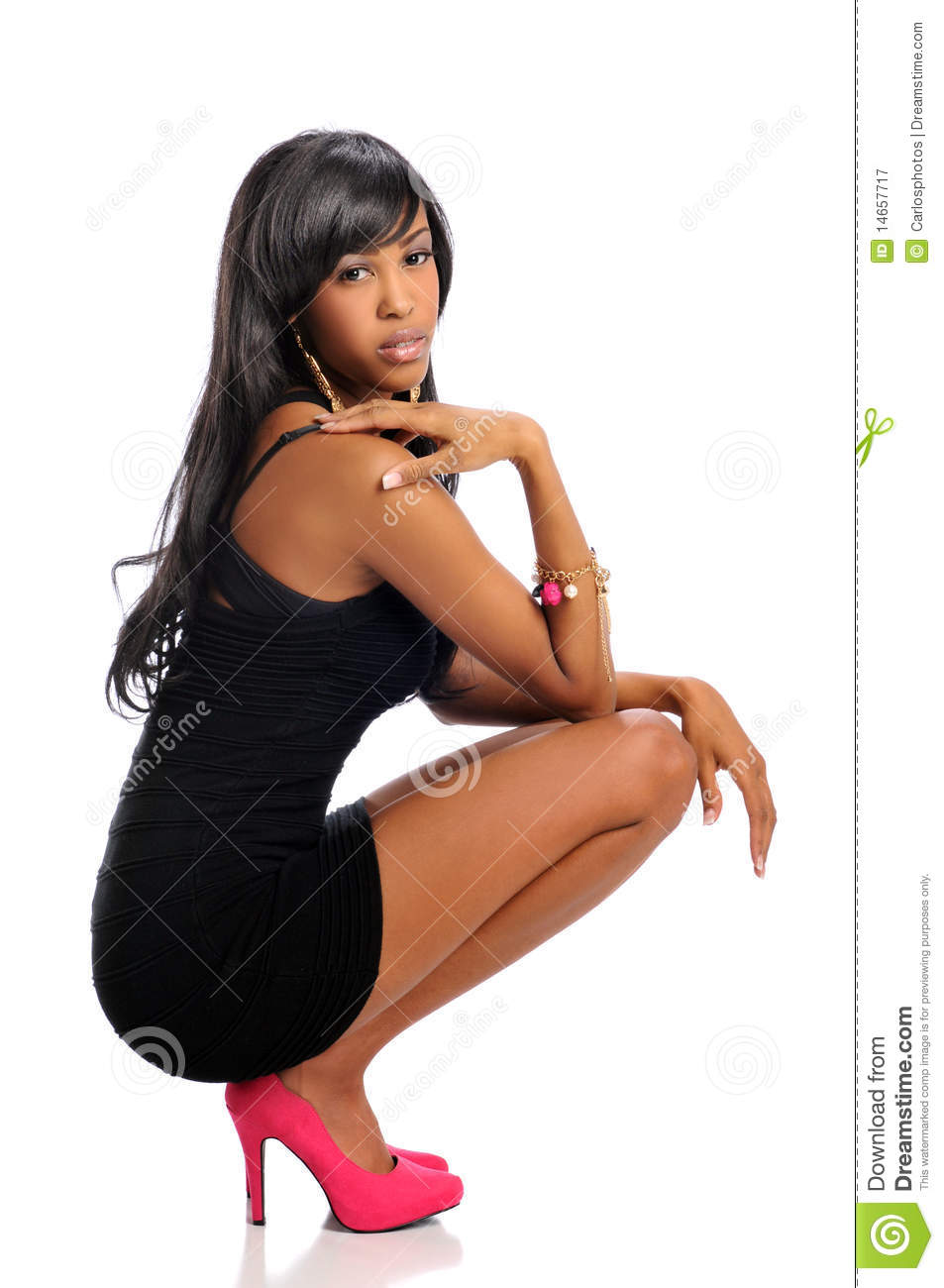 Young African American Woman Royalty Free Stock