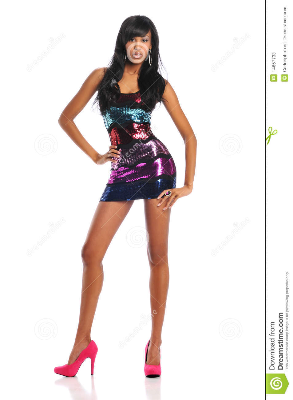 Young African American Woman Fashion Model Stock Photos ...