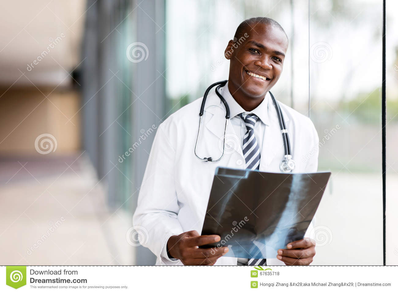 Young african medical doctor