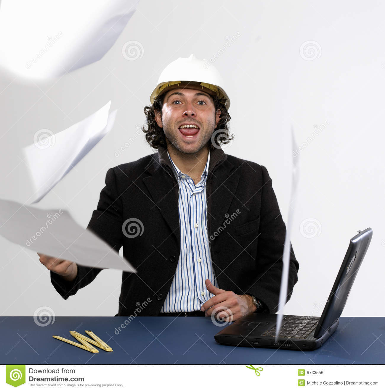 Young architect at work royalty free stock image image for Architect at work
