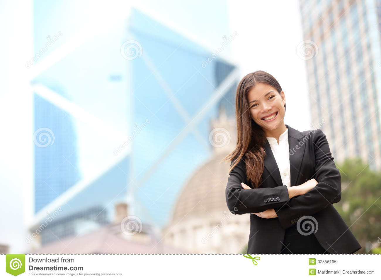 Young Asian business people businesswoman portrait